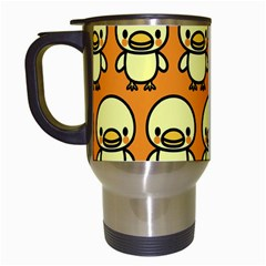 Small Duck Yellow Travel Mugs (White)