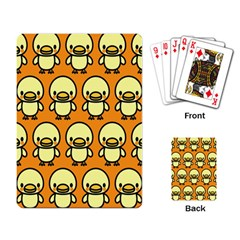 Small Duck Yellow Playing Card