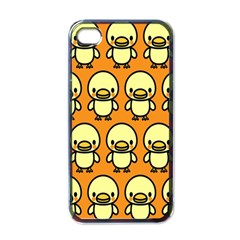 Small Duck Yellow Apple iPhone 4 Case (Black)
