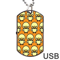 Small Duck Yellow Dog Tag USB Flash (One Side)