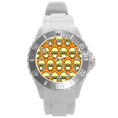 Small Duck Yellow Round Plastic Sport Watch (L)