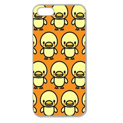 Small Duck Yellow Apple Seamless iPhone 5 Case (Clear)