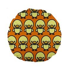 Small Duck Yellow Standard 15  Premium Round Cushions
