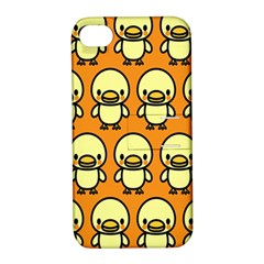 Small Duck Yellow Apple iPhone 4/4S Hardshell Case with Stand