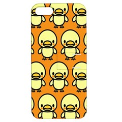 Small Duck Yellow Apple iPhone 5 Hardshell Case with Stand