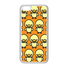 Small Duck Yellow Apple iPhone 5C Seamless Case (White)