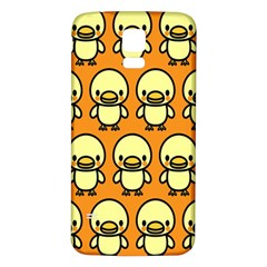 Small Duck Yellow Samsung Galaxy S5 Back Case (White)