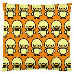 Small Duck Yellow Large Flano Cushion Case (Two Sides)