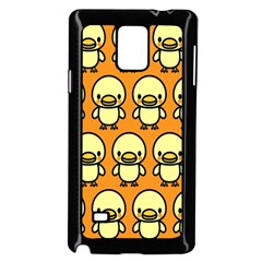 Small Duck Yellow Samsung Galaxy Note 4 Case (Black)