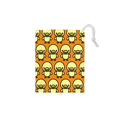 Small Duck Yellow Drawstring Pouches (XS)