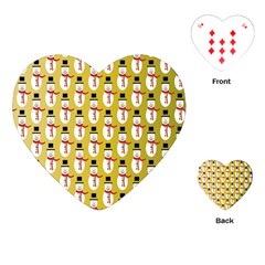 Snowman Green Playing Cards (Heart)