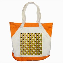 Snowman Green Accent Tote Bag