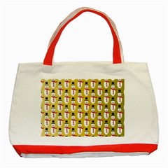 Snowman Green Classic Tote Bag (Red)