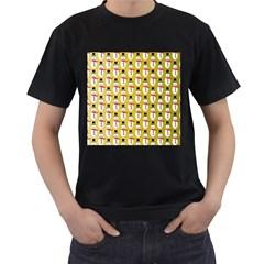 Snowman Green Men s T-Shirt (Black)