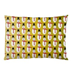 Snowman Green Pillow Case (Two Sides)