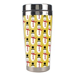 Snowman Green Stainless Steel Travel Tumblers