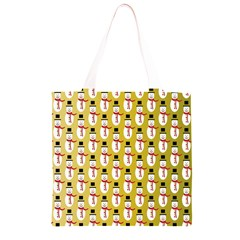 Snowman Green Grocery Light Tote Bag