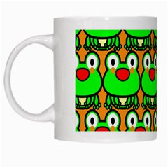 Sitfrog Orange Green Frog White Mugs