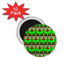 Sitfrog Orange Green Frog 1.75  Magnets (10 pack)