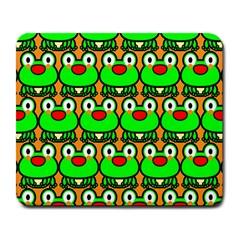 Sitfrog Orange Green Frog Large Mousepads