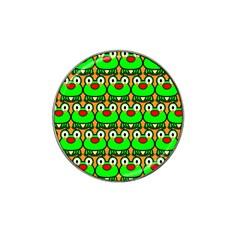 Sitfrog Orange Green Frog Hat Clip Ball Marker (4 pack)
