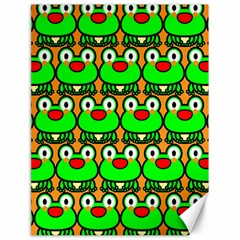 Sitfrog Orange Green Frog Canvas 18  x 24