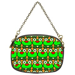 Sitfrog Orange Green Frog Chain Purses (One Side)