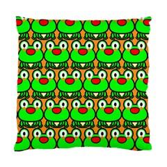 Sitfrog Orange Green Frog Standard Cushion Case (One Side)