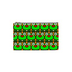 Sitfrog Orange Green Frog Cosmetic Bag (Small)
