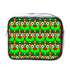 Sitfrog Orange Green Frog Mini Toiletries Bags