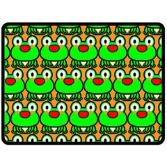 Sitfrog Orange Green Frog Fleece Blanket (Large)