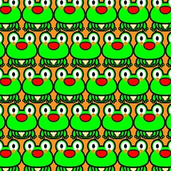 Sitfrog Orange Green Frog Magic Photo Cubes