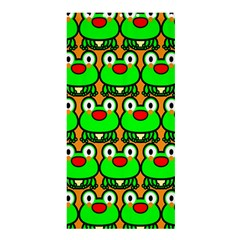 Sitfrog Orange Green Frog Shower Curtain 36  x 72  (Stall)