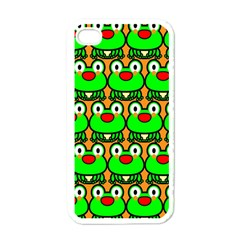 Sitfrog Orange Green Frog Apple iPhone 4 Case (White)