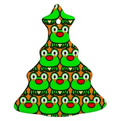 Sitfrog Orange Green Frog Christmas Tree Ornament (2 Sides)