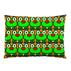 Sitfrog Orange Green Frog Pillow Case (Two Sides)