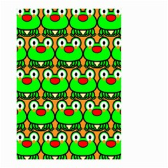 Sitfrog Orange Green Frog Small Garden Flag (Two Sides)