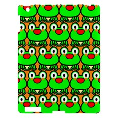 Sitfrog Orange Green Frog Apple iPad 3/4 Hardshell Case