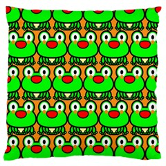 Sitfrog Orange Green Frog Large Cushion Case (One Side)