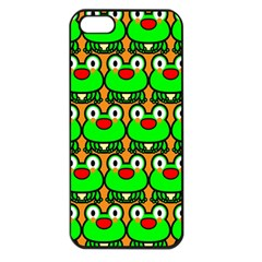 Sitfrog Orange Green Frog Apple iPhone 5 Seamless Case (Black)