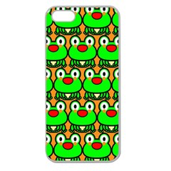 Sitfrog Orange Green Frog Apple Seamless iPhone 5 Case (Clear)