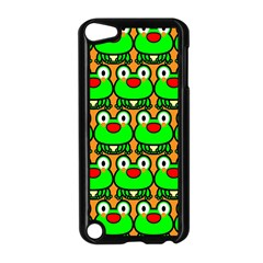 Sitfrog Orange Green Frog Apple iPod Touch 5 Case (Black)