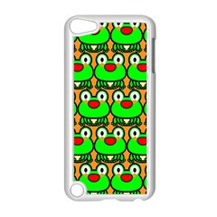 Sitfrog Orange Green Frog Apple iPod Touch 5 Case (White)