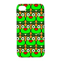 Sitfrog Orange Green Frog Apple iPhone 4/4S Hardshell Case with Stand