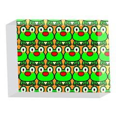 Sitfrog Orange Green Frog 5 x 7  Acrylic Photo Blocks