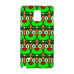 Sitfrog Orange Green Frog Samsung Galaxy Note 4 Hardshell Case