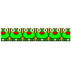 Sitfrog Orange Green Frog Flano Scarf (Large)