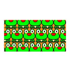Sitfrog Orange Green Frog Satin Wrap