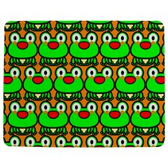 Sitfrog Orange Green Frog Jigsaw Puzzle Photo Stand (Rectangular)