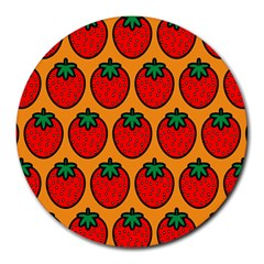 Strawberry Orange Round Mousepads